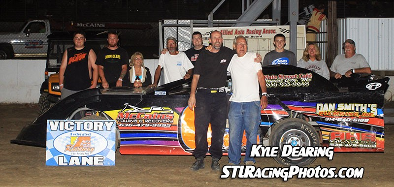 August 1st, 2014: Troy Medley takes Federated Auto Parts Raceway at I-55 Sportsman win!