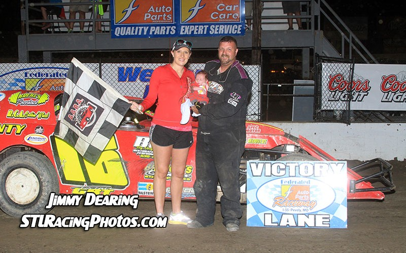 August 2nd, 2014: Rusty Griffaw takes Federated Auto Parts Raceway at I-55 Modified win!